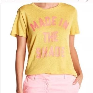 """J. Crew Yellow. """"Made in the Shade """" Tee"""